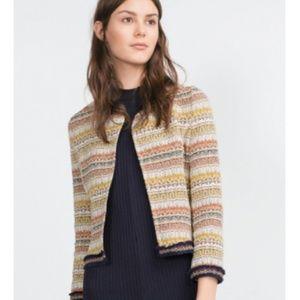 Zara Trafaluc Outwear Collection Jacquard Jacket